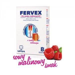 FERVEX x 8 saszetek smak malinowy