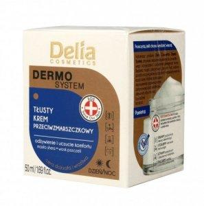 Delia Cosmetics Dermo System Tłusty Krem przeciwzmarszczkowy na dzień i noc  50ml