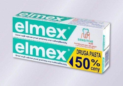 Elmex Sensitive Pasta do zebow 75ml + druga za 50 %