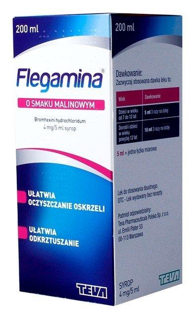 FLEGAMINA malinowa syrop 4 mg/5 ml 200ml
