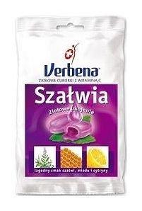 VERBENA Szałwia Cukierki ziołowe z Vit.C 60g