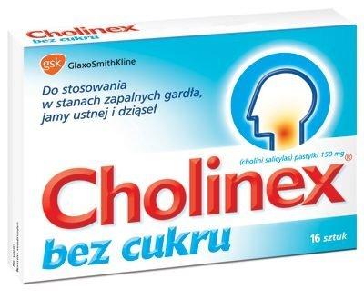 CHOLINEX x 16 past. do ssania bez cukru