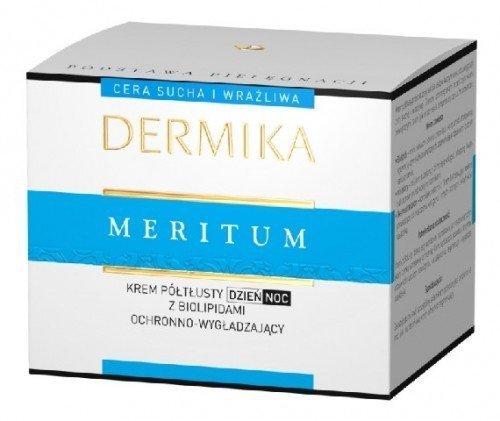 Dermika Meritum Krem poltlusty ochronno-wygladzajacy z biolipidami Dzien/Noc