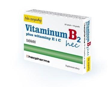 VITAMINUM B2 HEC Na Zajady x 30 tabletek