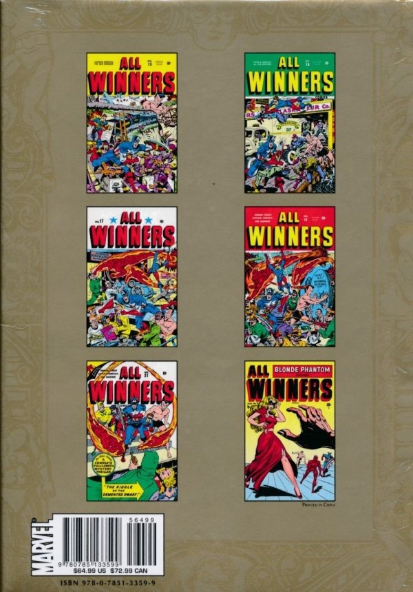 MARVEL MASTERWORKS GOLDEN AGE ALL-WINNERS VOL 04 HC (STANDARD COVER)
