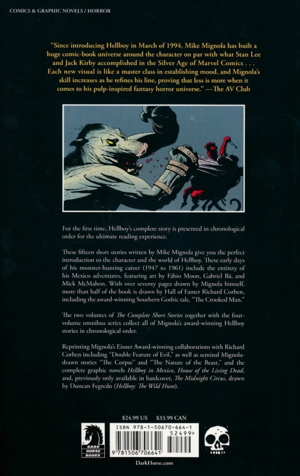 HELLBOY THE COMPLETE SHORT STORIES VOL 01 SC