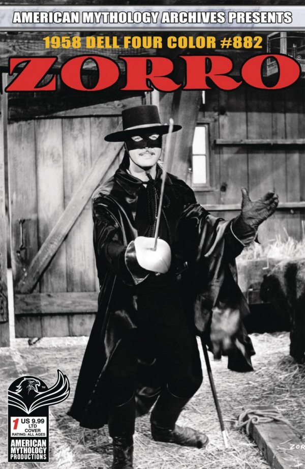 AM ARCHIVES ZORRO 1958 DELL FOUR COLOR #882 LTD ED TV CVR *