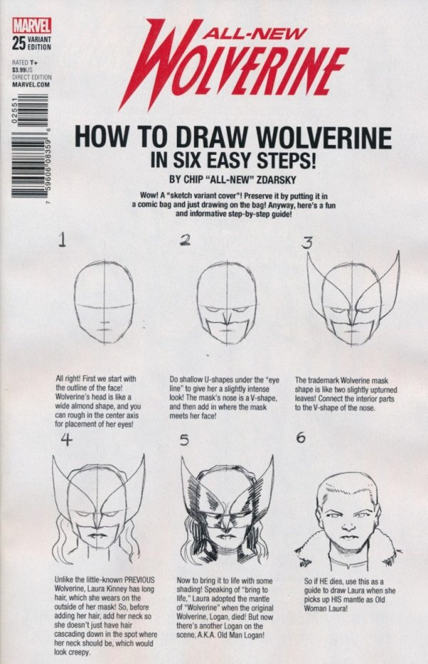 ALL NEW WOLVERINE #25 ZDARSKY HOW TO DRAW VAR