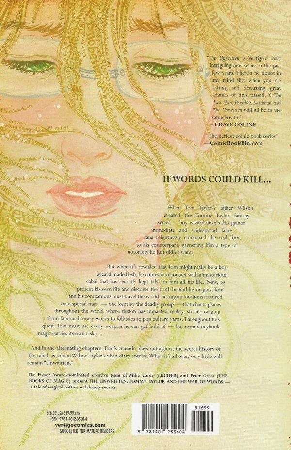 UNWRITTEN VOL 06 TOMMY TAYLOR AND THE WAR OF WORDS SC