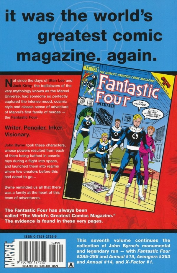 FANTASTIC FOUR VISIONARIES BYRNE VOL 07 SC