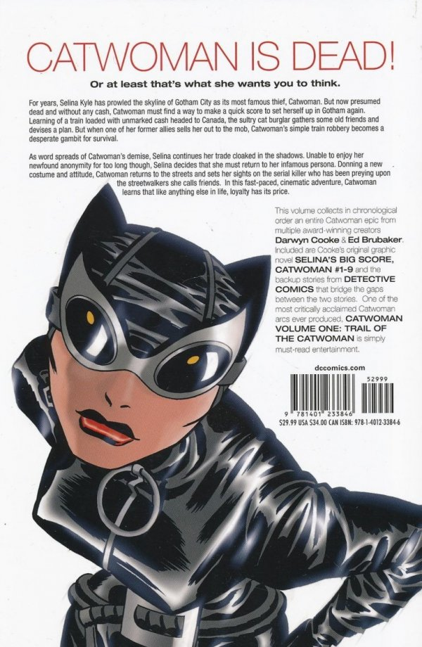CATWOMAN VOL 01 TRAIL OF THE CATWOMAN SC
