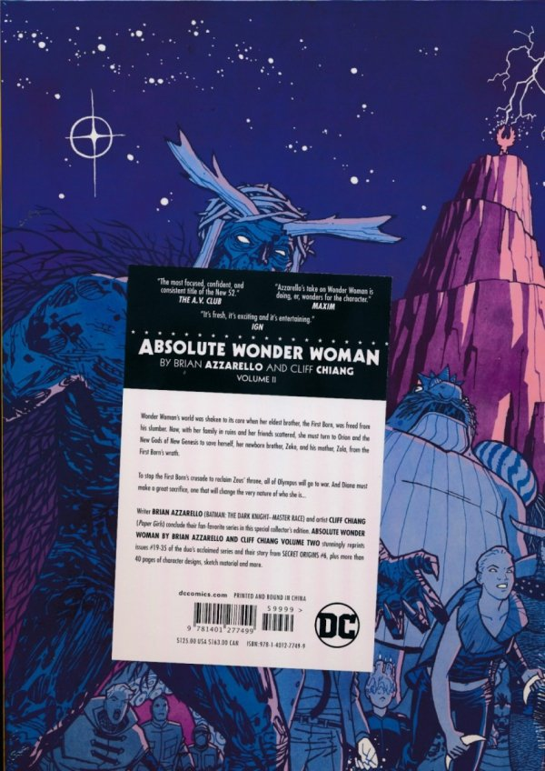 ABSOLUTE WONDER WOMAN BY BRIAN AZZARELLO AND CLIFF CHIANG VOL 02 HC (BOX)