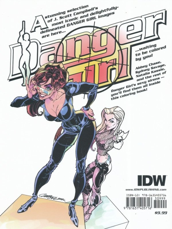 DANGER GIRL PERMISSION TO THRILL COLORING BOOK SC