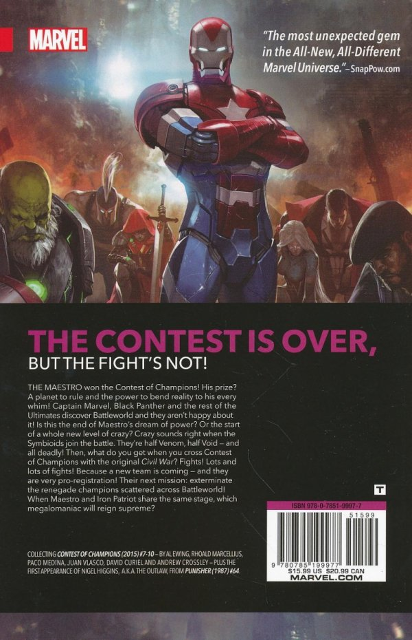 CONTEST OF CHAMPIONS VOL 02 FINAL FIGHT SC