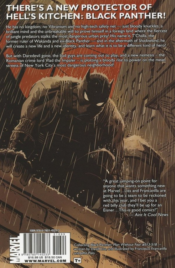BLACK PANTHER THE MAN WITHOUT FEAR VOL 01 URBAN JUNGLE SC