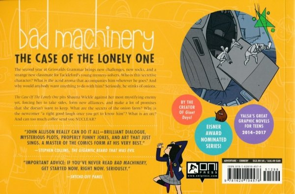 BAD MACHINERY VOL 04 THE CASE OF THE LONELY ONE SC