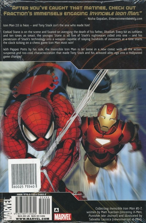 INVINCIBLE IRON MAN VOL 01 THE FIVE NIGHTMARES HC (STANDARD COVER) *
