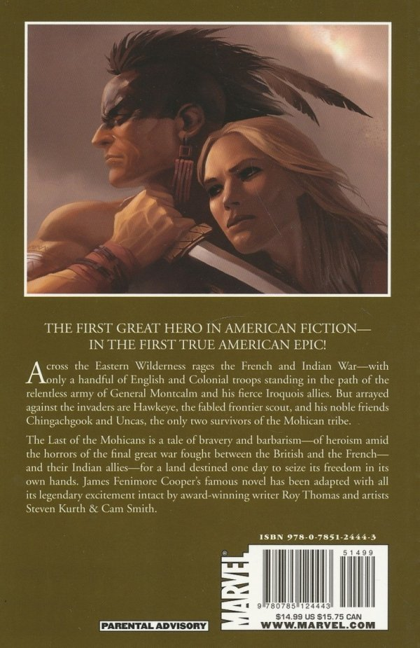 MARVEL ILLUSTRATED THE LAST OF THE MOHICANS SC *