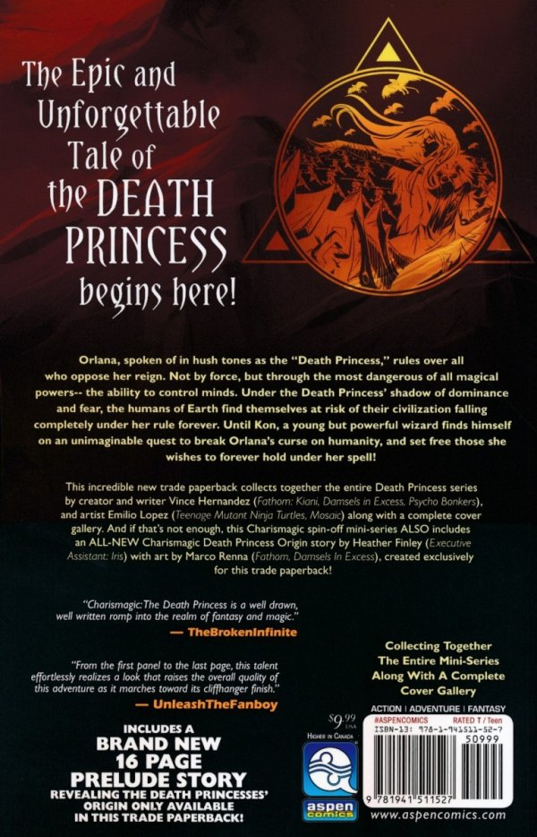 CHARISMAGIC VOL 01 THE DEATH PRINCESS SC