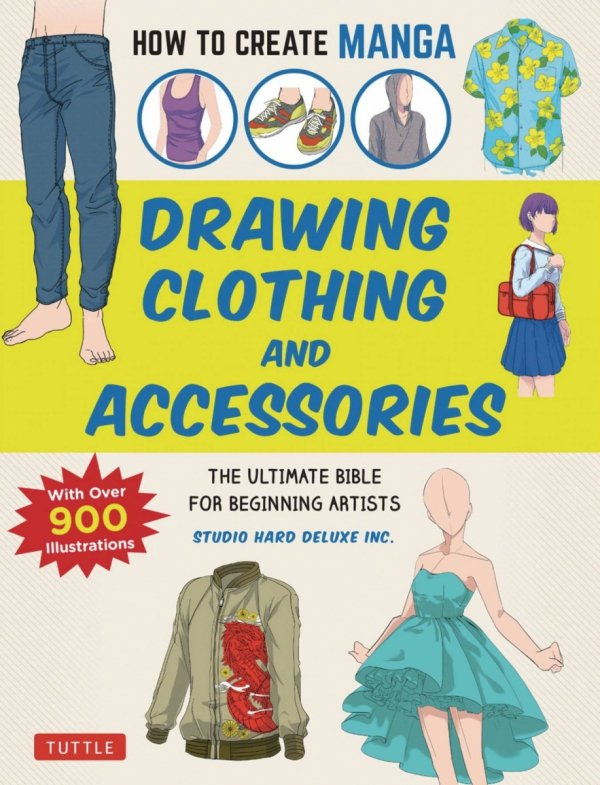 HOW TO CREATE MANGA DRAWING CLOTHING & ACCESSORIES *