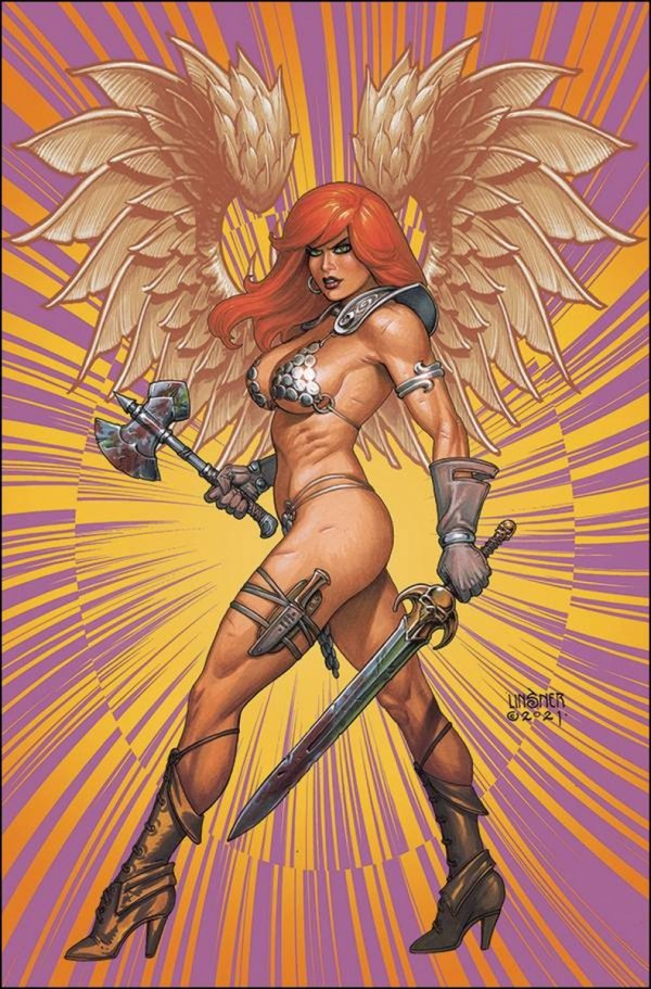 RED SONJA THE SUPERPOWERS #5 LINSNER LTD VIRGIN CVR