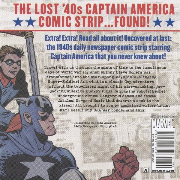CAPTAIN AMERICA 1940S NEWSPAPER STRIP TP