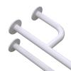 Uchwyt Umywalkowy dla Niepełnosprawnych prawy 60cm biały fi32 + MASKOWNICE