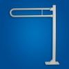 Uchwyt Uchylny WC wolnostojący 70cm biały fi25 dla osób niepełnosprawnych