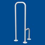 Uchwyt WC dla Niepełnosprawnych mocowany do podłogi lewy biały fi32