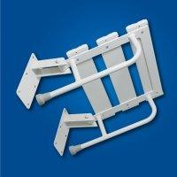 Krzesełko Prysznicowe Uchylne białe fi25