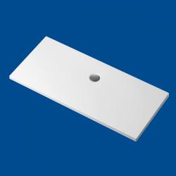 Brodzik posadzkowy najazdowy dla osób starszych i niepełnosprawnych biały akrylowy 175x75