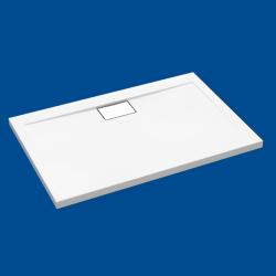 Brodzik posadzkowy najazdowy dla osób starszych i niepełnosprawnych biały akrylowy 120x100