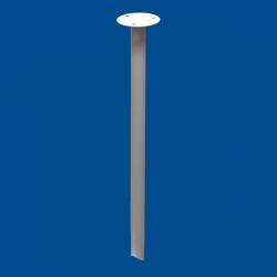 Podwieszenie drążka stałe 50cm białe fi25