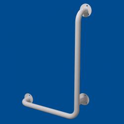 Uchwyt Kątowy dla Niepełnosprawnych prawy 80/60cm biały fi32