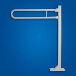 Uchwyt dla niepełnosprawnych Uchylny WC wolnostojący 50cm biały fi25