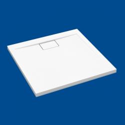 Brodzik posadzkowy najazdowy dla osób starszych i niepełnosprawnych biały akrylowy 160x80