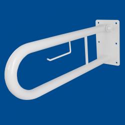 Uchwyt Uchylny dla Niepełnosprawnych z zawieszką na papier 50cm biały fi32