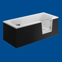 Obudowa wanny panel boczny czarny uniwersalny VOVO / AVO 140cm