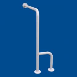 Uchwyt WC dla Niepełnosprawnych mocowany do podłoga - ścianay lewy 70cm biały fi32 + MASKOWNICE