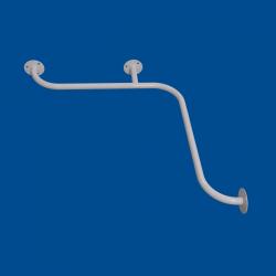 Uchwyt Kątowy Prysznicowy dla Niepełnosprawnych 60/60cm biały fi25