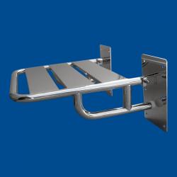 Krzesełko Prysznicowe dla Niepełnosprawnych Uchylne wzmocnione stal nierdzewna fi25