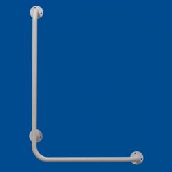 Uchwyt Kątowy dla Niepełnosprawnych lewy 60/40cm biały fi25