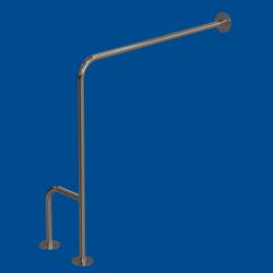 Uchwyt WC dla Niepełnosprawnych mocowany do podł-ścia prawy 80cm fi25