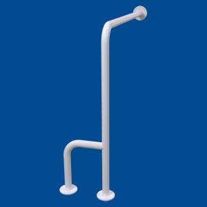 Uchwyt WC dla Niepełnosprawnych mocowany do podłi-ścia prawy 70cm biały fi32 + MASKOWNICE