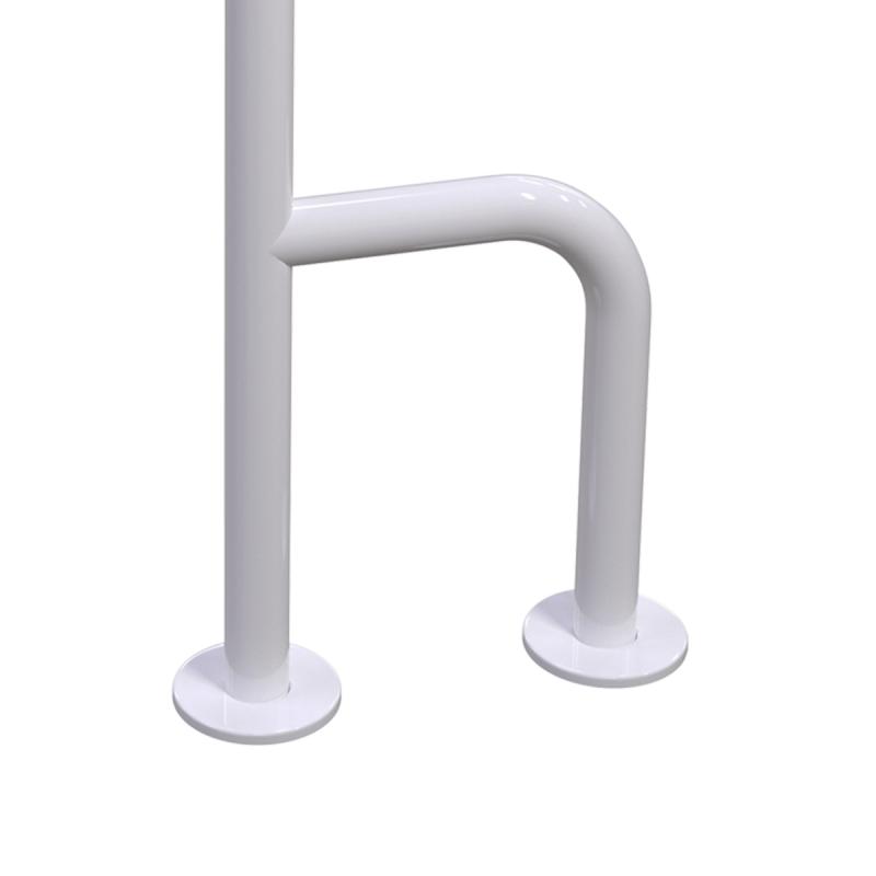 Uchwyt WC dla Niepełnosprawnych mocowany do podłoga - ściana lewy 80cm biały fi32 + MASKOWNICE