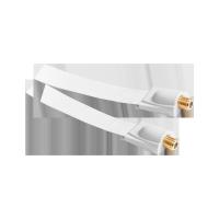 Kabel gniazdo F-gniazdo F okienny HQ biały