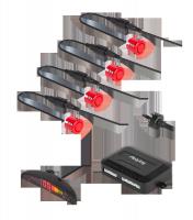 Samochodowe czujniki parkowania z wyświetlaczem (tył) Peiying – czerwone