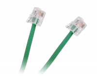 Przewód tel. wtyk-wtyk zielony 2m