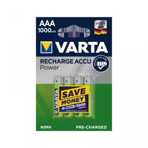 Akumulator VARTA AAA 1000mAh 4szt./bl.