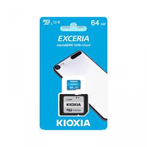 Karta pamięci microSD 64 GB UHS-I U1 Kioxia z adapterem